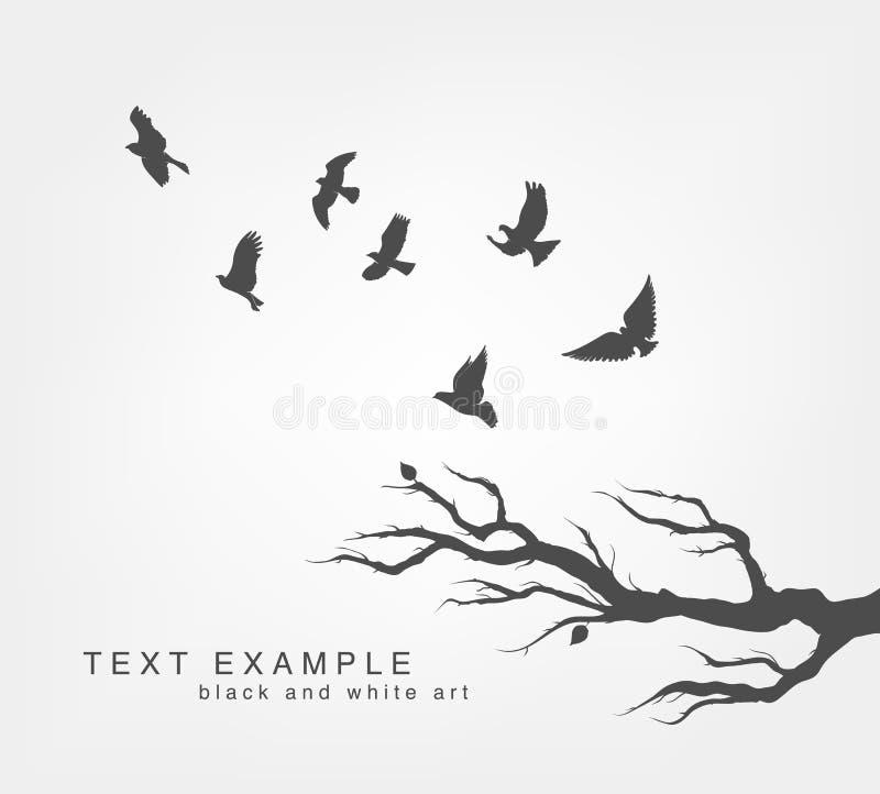 Стая птиц летания иллюстрация вектора