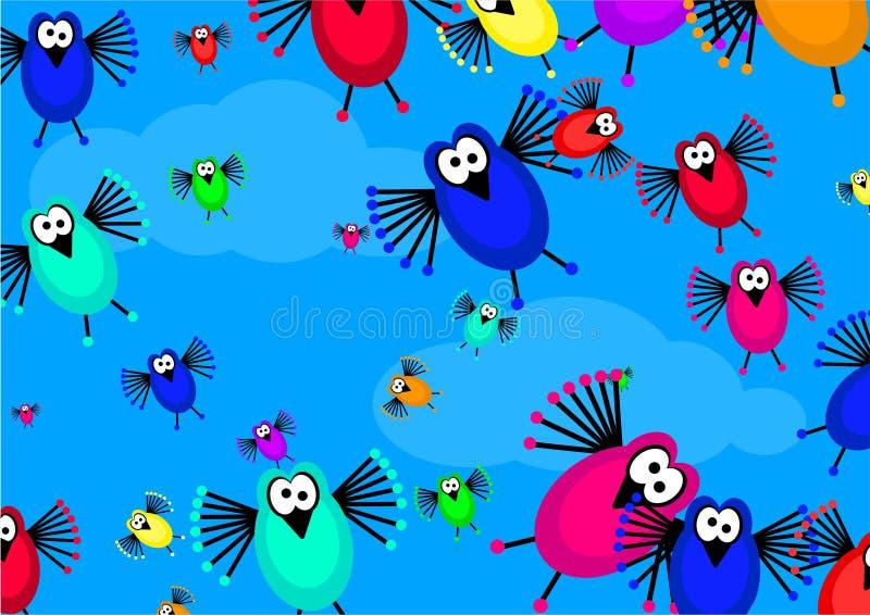 стая птиц бесплатная иллюстрация