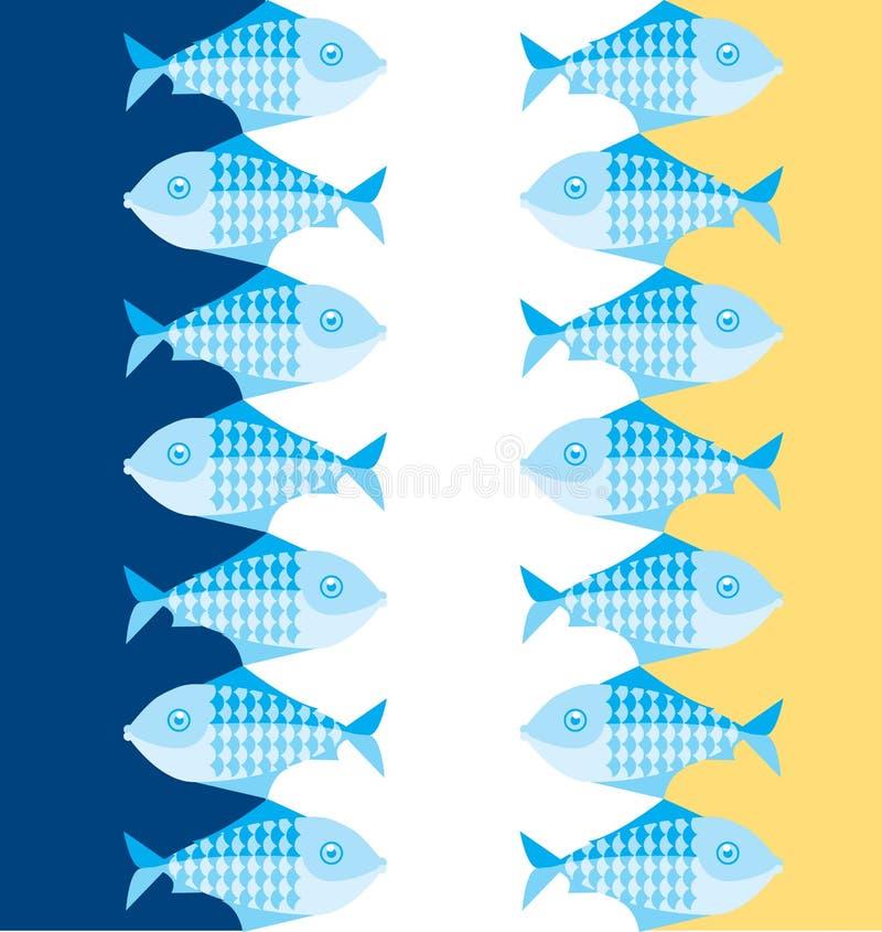 стая рыб бесплатная иллюстрация
