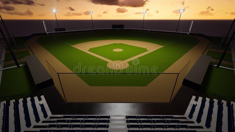 Стадион бейсбола иллюстрация штока