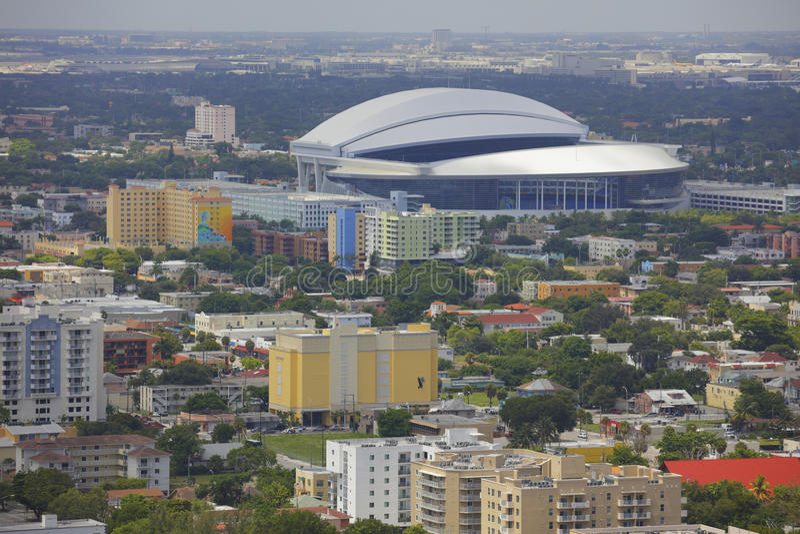Стадион Майами Марлинов стоковое изображение rf