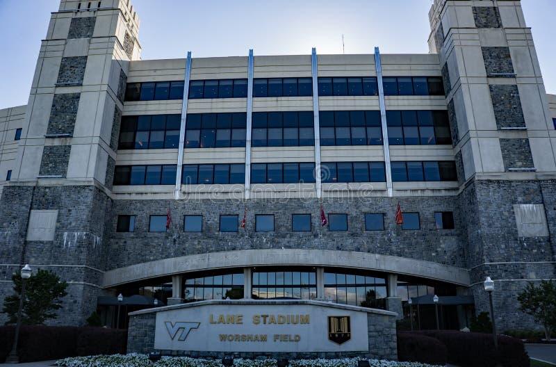 Стадион майны, Blacksburg, Вирджиния, США стоковые изображения