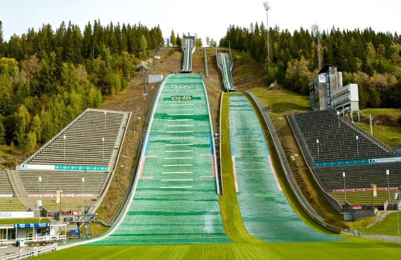 Стадион Олимпийских Игр Лиллехаммера в Норвегии стоковая фотография