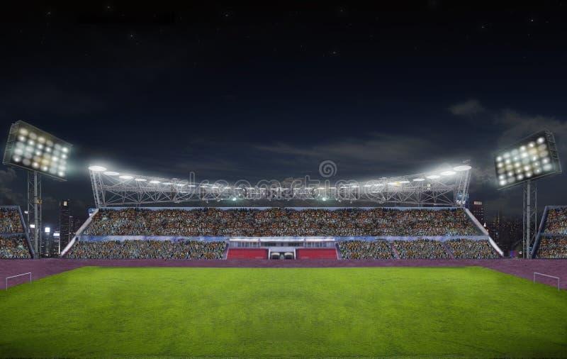 Стадион перед спичкой стоковое изображение