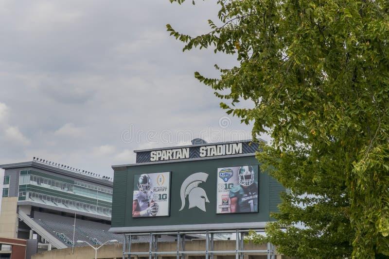 Стадион университета штата Мичиган спартанский стоковые изображения rf