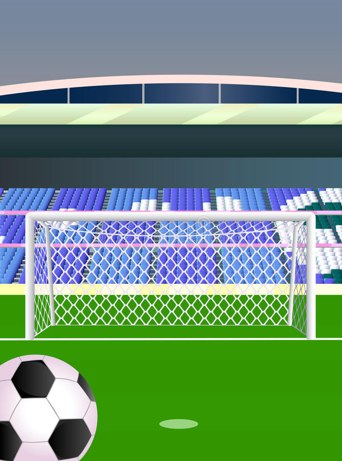 стадион футбола paris 01 города иллюстрация штока
