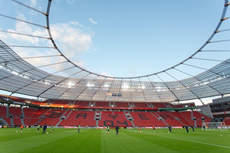 Стадион BayArena стоковые фото