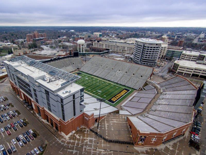 Стадион Kinnick в Iowa City, Айове стоковые фотографии rf