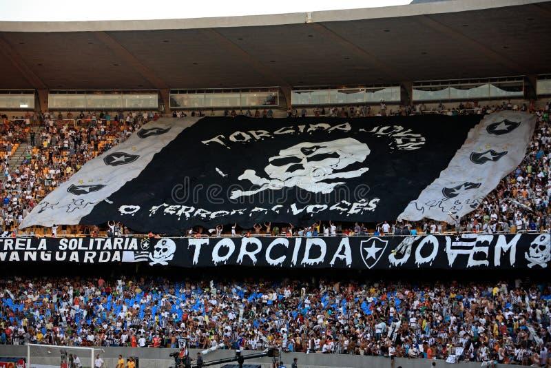Стадион maracana сторонников Botafogo стоковые изображения rf
