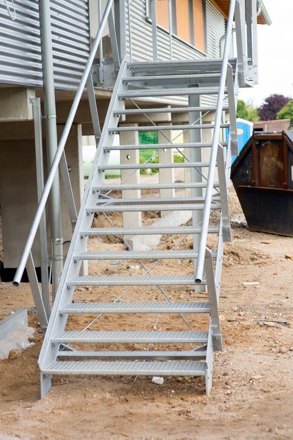 Стальная лестница стоковые фото