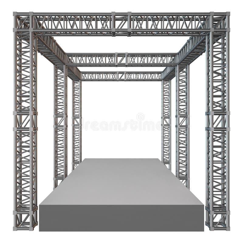 Стальная конструкция крыши прогона ферменной конструкции бесплатная иллюстрация