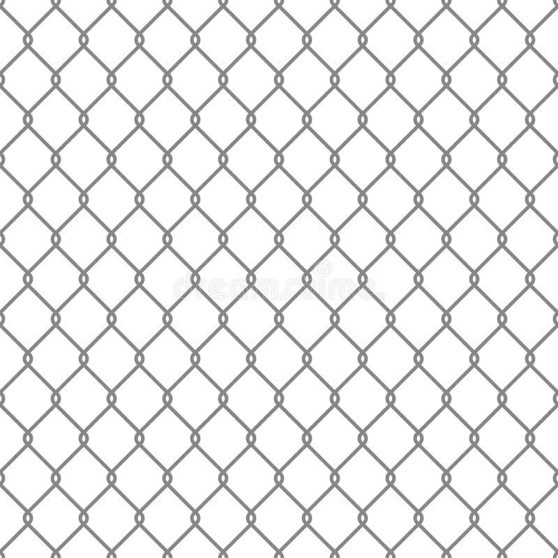 Стальная предпосылка ячеистой сети безшовная вектор иллюстрация штока