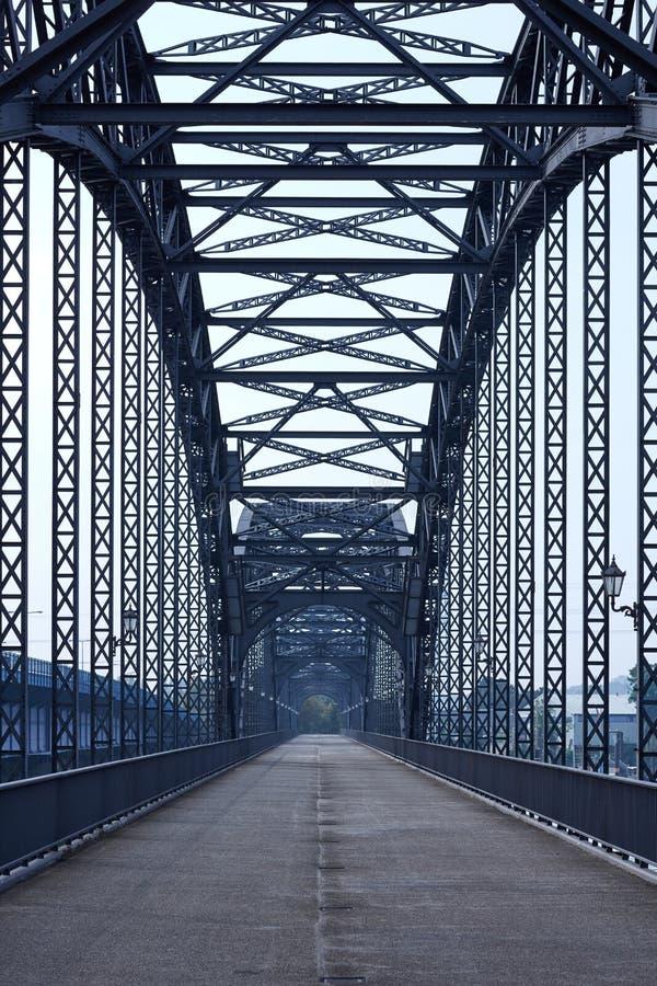 Стальной мост в Гамбурге стоковое фото rf