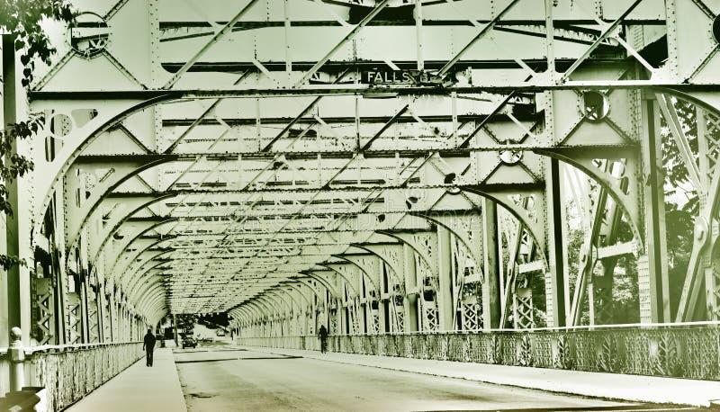 Стальной мост в Филадельфии стоковые фотографии rf