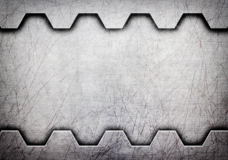 Стальной шаблон с космосом экземпляра, предпосылкой металла, 3d, illustrati иллюстрация вектора