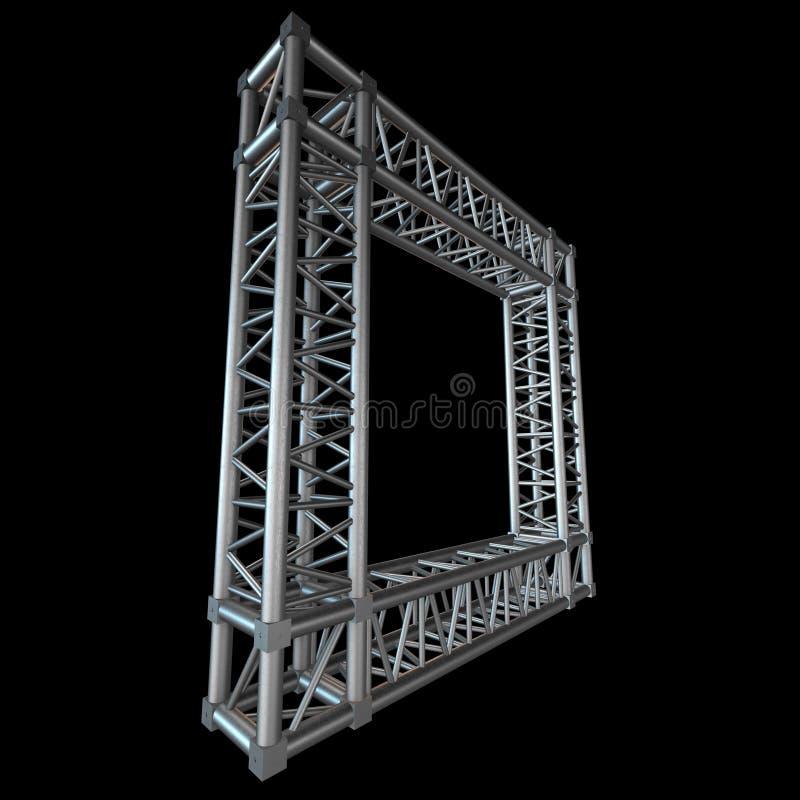 Стальной элемент прогона ферменной конструкции иллюстрация штока