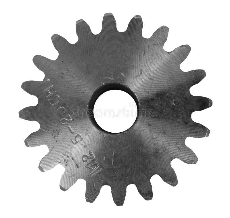 Стальной cogwheel изолированный на белой предпосылке стоковые изображения