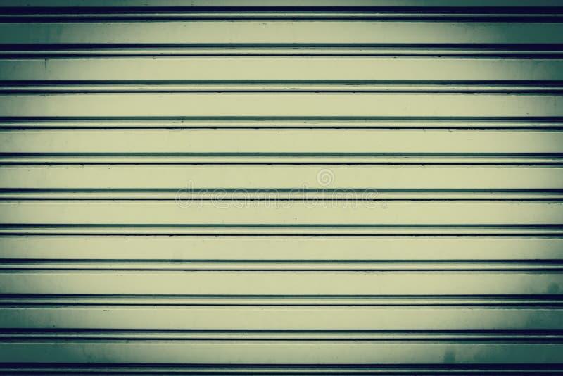 Стальные раздвижные двери, текстура двери скольжения металлического листа стоковые изображения
