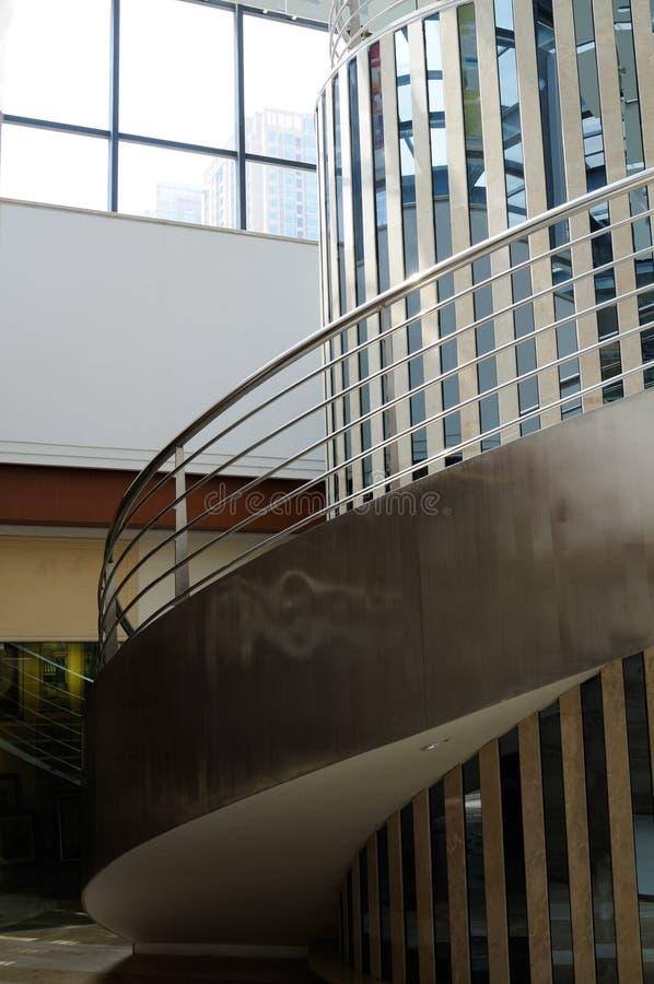 Стальные спиральные лестницы стоковые фото