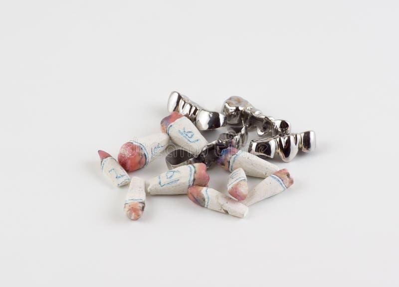 Стальные dentures стоковые фотографии rf