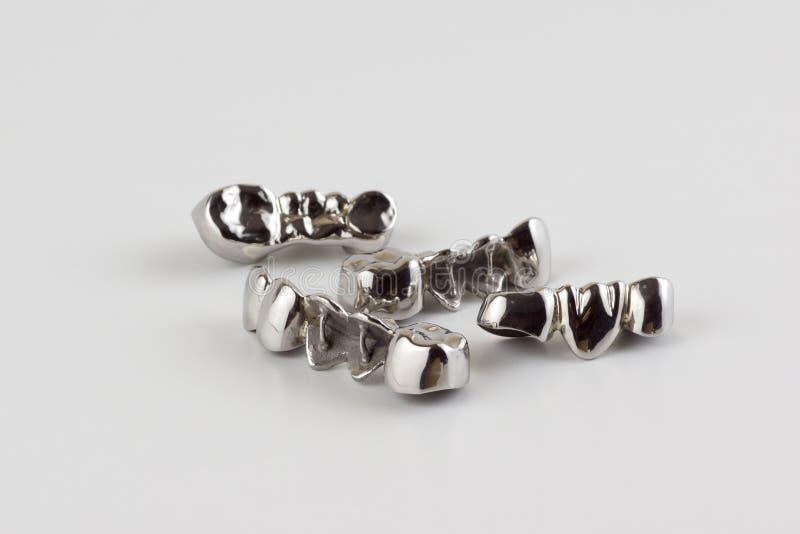 Стальные dentures стоковая фотография rf