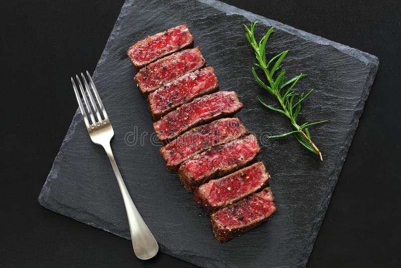 Стейк говядины Wagyu, японская еда стоковые изображения rf