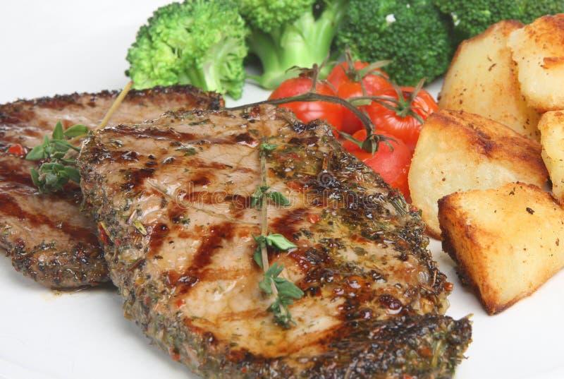 стейк поперченный едой стоковое фото rf