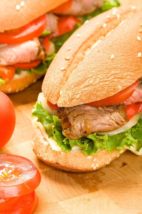 стейк сандвича стоковое изображение rf