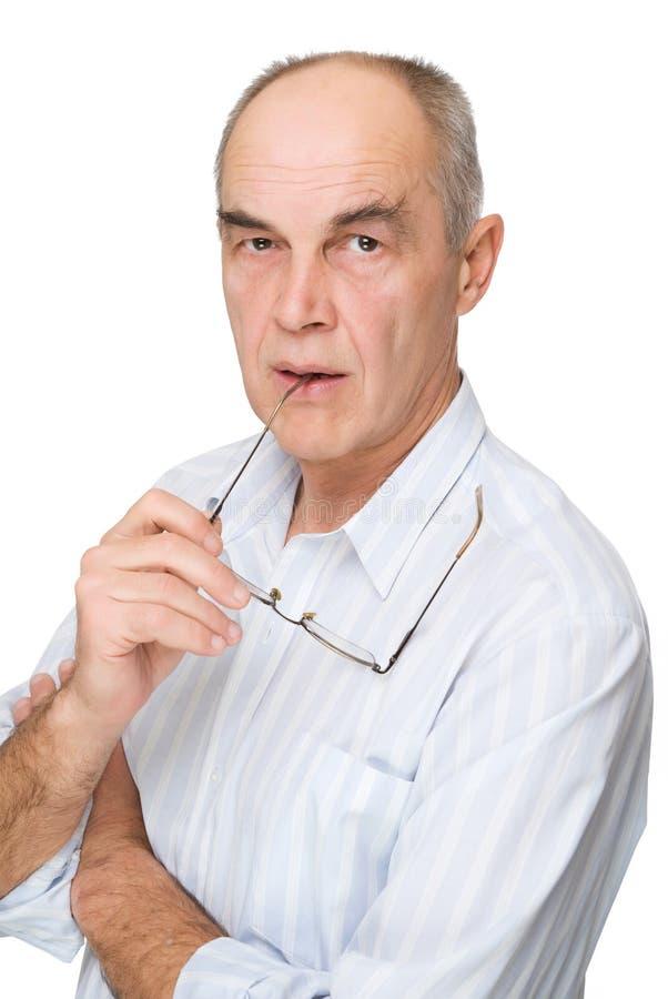 стекла бизнесмена серьезные стоковое фото
