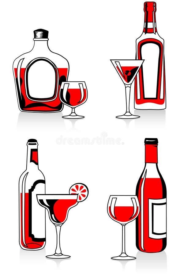 стекла бутылок иллюстрация штока