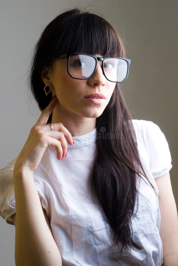 стекла девушки стоковое изображение