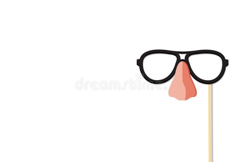 Стекла и дизайн вектора носа бесплатная иллюстрация