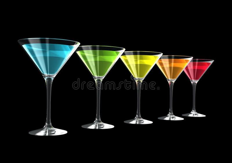 стекла коктеила 3d бесплатная иллюстрация