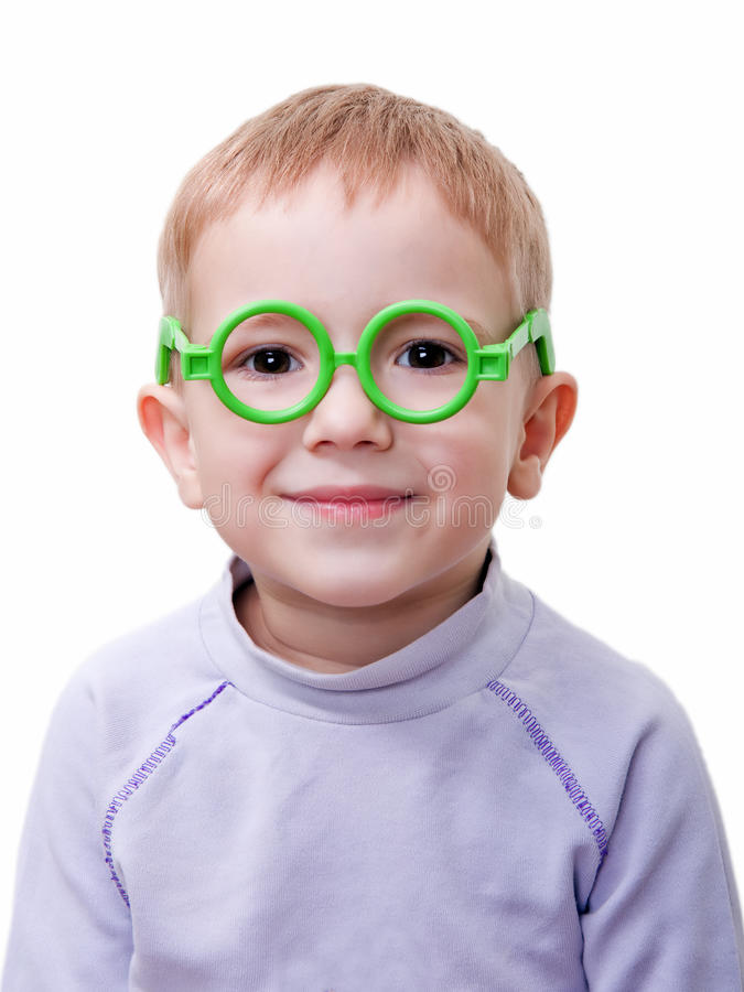 стекла ребенка стоковые изображения rf