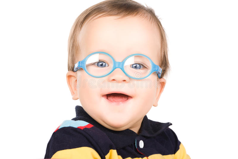 стекла ребенка стоковое фото rf