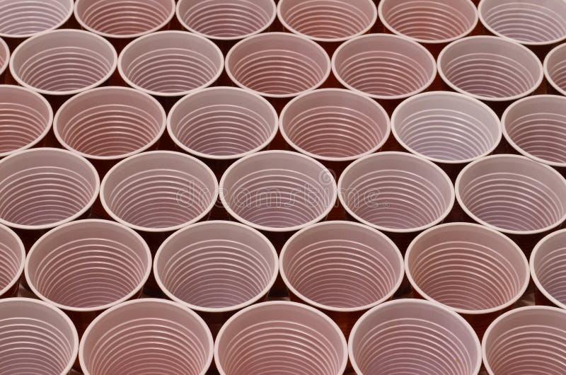 Стекла серии пластиковые коричневые стоковые фотографии rf