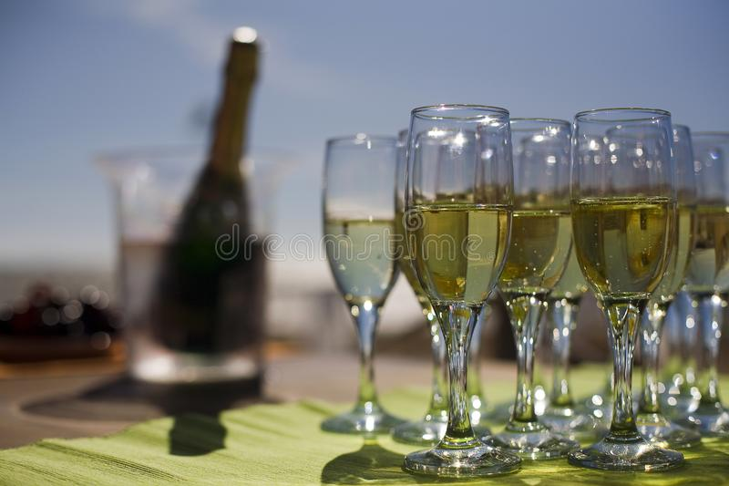 Стекла с шампанским стоковые фото