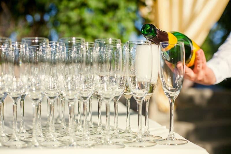 стекла шампанского стоковые изображения