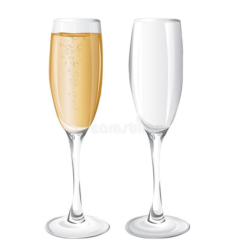 Стекла Шампань бесплатная иллюстрация