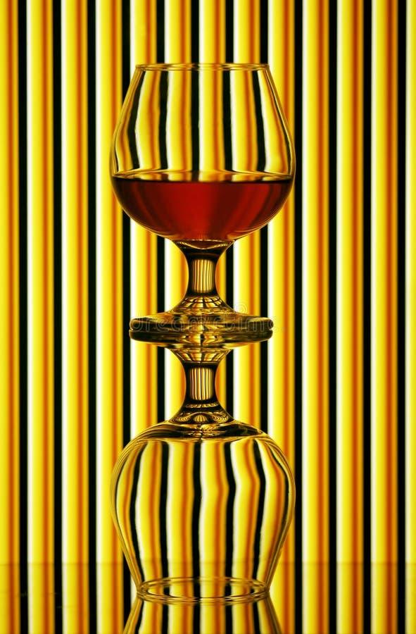 стекла 2 конгяка стоковые фотографии rf