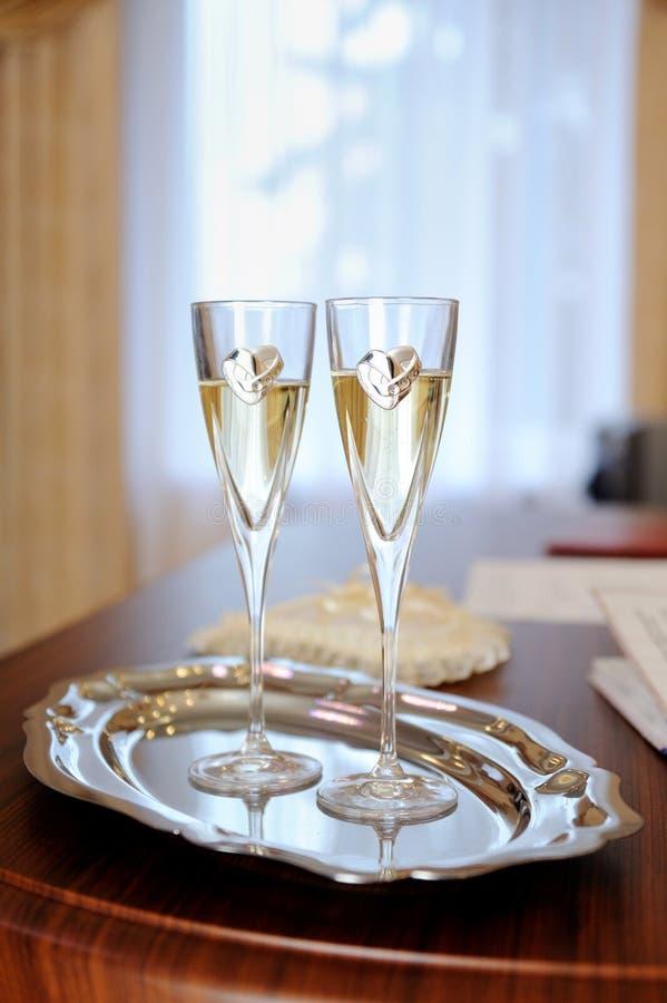 стекла wedding стоковое изображение
