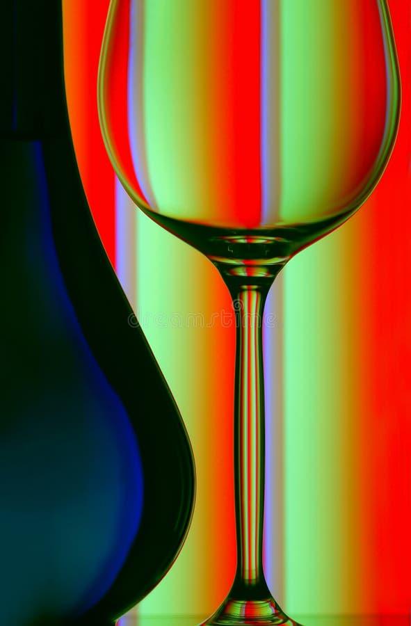 стекло бутылки близкое вверх по вину стоковая фотография rf