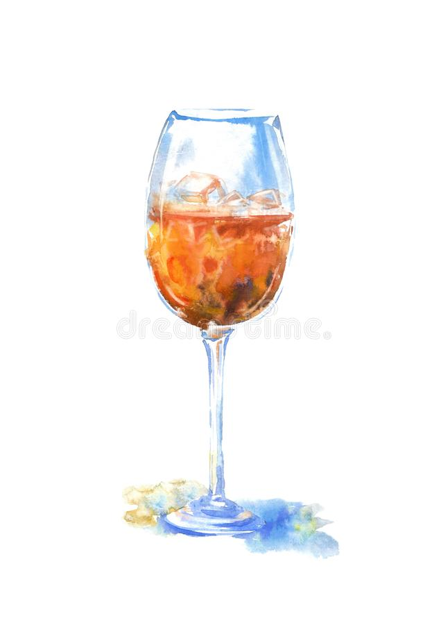 Стекло вискиа и льда Изображение алкогольного напитка стоковые изображения rf