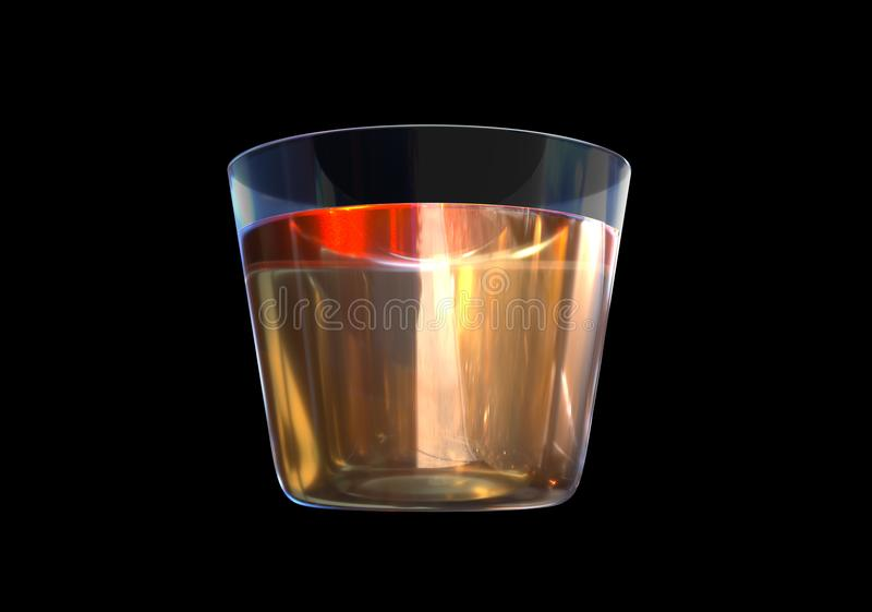 Стекло вискиа на черной предпосылке стоковые фото