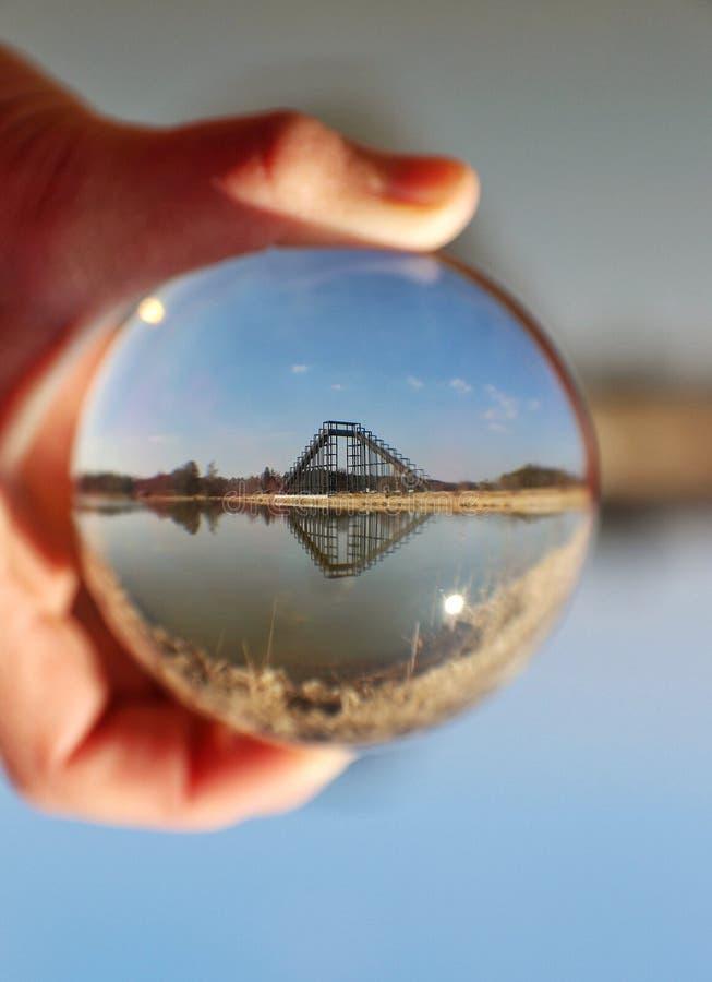 Стекло воды Eger ландшафта моста шарика стоковое фото rf
