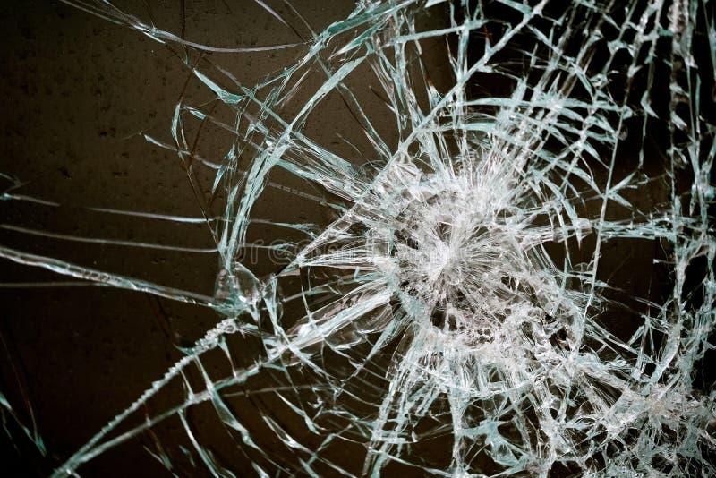 Стекло в общественном доме повреждено стоковое изображение