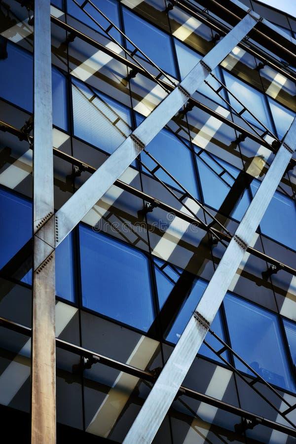Стекло детали детали стального здания стоковые фотографии rf