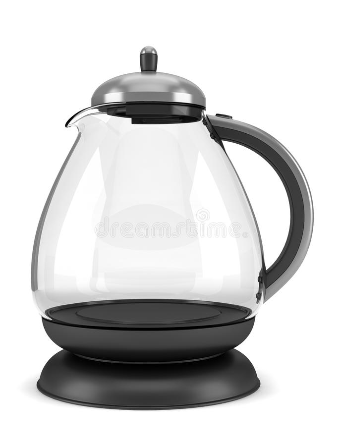 стекло изолировало самомоднейшую белизну чайника бесплатная иллюстрация