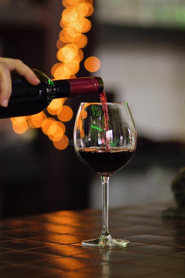 Стекло красного вина стоковое фото rf