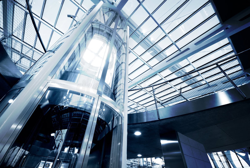 стекло лифта стоковые изображения rf